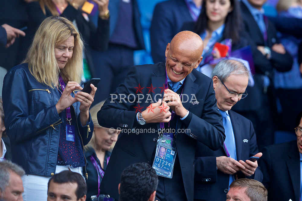 CARDIFF, WALES - Thursday, June 1, 2017: Former UEFA referee Pierluigi Collina during the UEFA Women's Champions League Final between Olympique Lyonnais and Paris Saint-Germain FC at the Cardiff City Stadium. (Pic by David Rawcliffe/Propaganda)