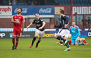 David Clarkson celebrates his winner -  Dundee v Aberdeen, William Hill Scottish FA Cup 4th round at Dens Park<br /> <br />  - &copy; David Young - www.davidyoungphoto.co.uk - email: davidyoungphoto@gmail.com
