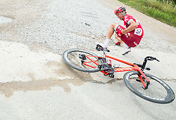 Porsev Alexander (Russia) of Team Katusha injured during Stage 1 of 23rd Tour of Slovenia 2016 / Tour de Slovenie from Ljubljana to Koper/Capodistria (177,8 km) cycling race on June 16, 2016 in Slovenia. Photo by Vid Ponikvar / Sportida