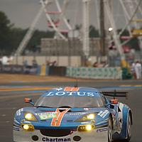 #64, Lotus Evora, Team Lotus JetAlliance, Drivers: Hartshorne, Rich, Slingerland, Thursday qualifying, GTE Pro, Le Mans 24H, 2011