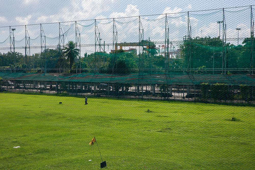 Golf course which is part of Intramuros Golf Club next to Fort Santiago in Intramuros, Manila, Philippines.  (photo by Andrew Aitchison / In pictures via Getty Images)