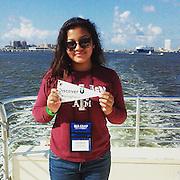 Sharpstown High School junior Genesis Santos at Sea Camp at Texas A&M Galveston this past summer.