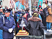Today March 24th, 2017 Marked the 106th Commemoration of The Triangle Shirtwaist Factory Fire at the corner of Washington Place and Greene Street, NYC were 146 workers had to jump from the windows of the building to escaped the fire and smoke, leding to there deaths on the streets below-Credit: Mark Apollo/Hashtag Occupy Media
