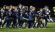 JEAST15P <br /> Members of Eastern High School's girls field hockey team celebrate on the field after defeating Bridgewater Raritan to win the NJ Group 4 State Championship game Saturday November 14, 2015 in Bordertown, New Jersey.  (William Thomas Cain/For The Inquirer)