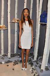 JOURDAN DUNN at a Dinner to celebrate the launch of the Mulberry Cara Delevingne Collection held at Claridge's, Brook Street, London on 16th February 2014.