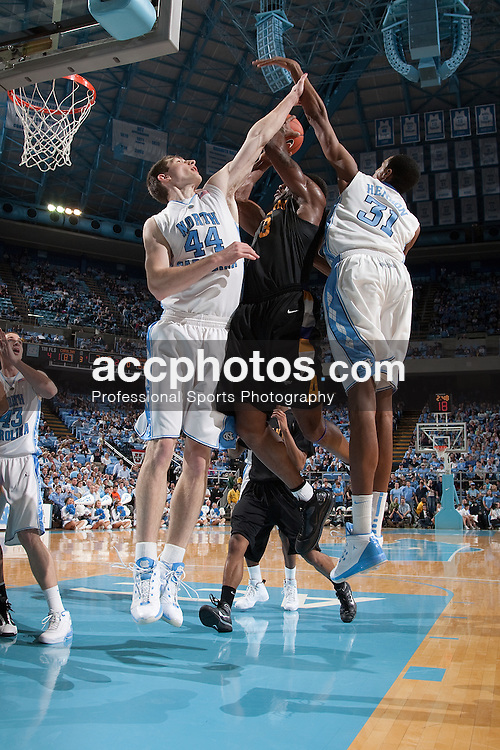 30 December 2009: North Carolina Tar Heels forward Tyler Zeller (44) during a 70-87 win over the Albany Great Danes at the Dean E. Smith Center in Chapel Hill, NC.