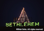 Historic Bethlehem, PA, Christmas lights and decorations,