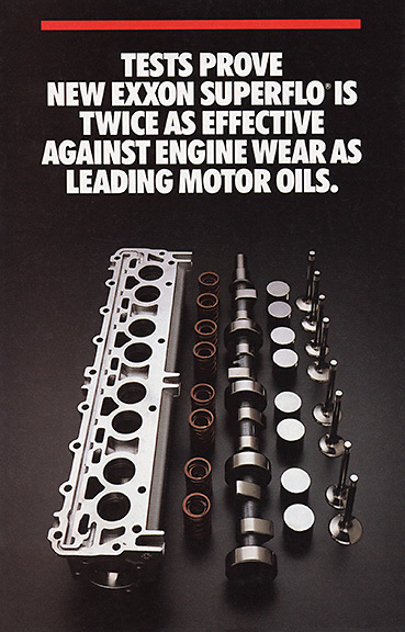 Exxon engine parts brochure cover.