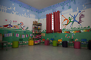 Inside the childrens playroom at Missao Paz, São Paulo, Brazil <br /> <br /> Missao Paz provides advice and support on employment, health, family, community and education. They also have residential quarters where people can stay when they have no where else. <br /> <br /> Their mission is to welcome, understand, integrate and celebrate the lives of immigrants and refugees, dreaming of a universal citizenship.