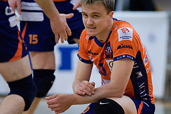 Veljko Petkovic of ACH at final match of Slovenian National Volleyball Championships between ACH Volley Bled and Salonit Anhovo, on April 24, 2010, in Radovljica, Slovenia. ACH Volley defeated Salonit 3rd time in 3 Rounds and became Slovenian National Champion.  (Photo by Vid Ponikvar / Sportida)