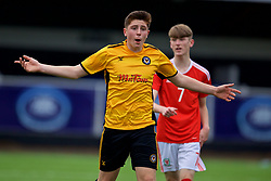MERTHYR TYDFIL, WALES - Thursday, November 2, 2017: Newport County's Oliver Stone during an Under-18 Academy Representative Friendly match between Wales and Newport County at Penydarren Park. (Pic by David Rawcliffe/Propaganda)