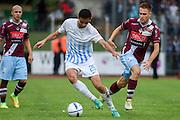 18.09.2016; Bellinzona; Fussball Schweizer Cup - AC Bellinzona - FC Zuerich;<br /> Ivan Kecojevic (Zuerich) David Stojanov (Bellinzona) <br /> (Andy Mueller/freshfocus)
