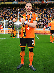 Free to use courtesy of Sky Bet - Barry Douglas of Wolverhampton Wanderers celebrates after lifting the Sky Bet Championship 2017/18 league trophy - Mandatory by-line: Matt McNulty/JMP - 28/04/2018 - FOOTBALL - Molineux - Wolverhampton, England - Wolverhampton Wanderers v Sheffield Wednesday - Sky Bet Championship