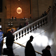 Commuters in the main concourse of at Grand Central Terminal in Manhattan, New York, USA. 28th March 2013. Photo Tim Clayton