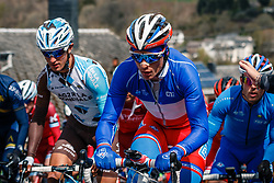 Peloton with VICHOT Arthur of FDJ during the UCI WorldTour 103rd Liège-Bastogne-Liège from Liège to Ans with 258 km of racing at Cote de Saint-Roch, Belgium, 23 April 2017. Photo by Pim Nijland / PelotonPhotos.com | All photos usage must carry mandatory copyright credit (Peloton Photos | Pim Nijland)