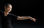 Hearing-impared Chinese dancer Tai Lihua in Beijing.
