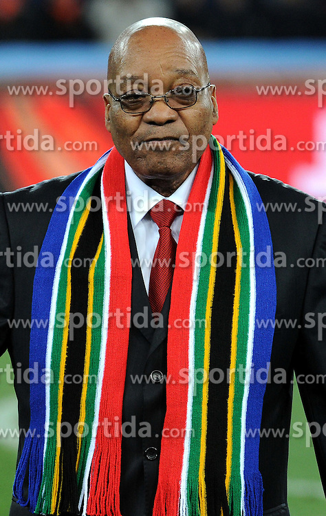 11.07.2010, Soccer-City-Stadion, Johannesburg, RSA, FIFA WM 2010, Finale, Niederlande (NED) vs Spanien (ESP) im Bild Jacob Zuma, EXPA Pictures © 2010, PhotoCredit: EXPA/ InsideFoto/ Perottino *** ATTENTION *** FOR AUSTRIA AND SLOVENIA USE ONLY! / SPORTIDA PHOTO AGENCY