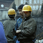 Construction Workers in Beijing. China