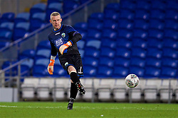 CARDIFF, WALES - Thursday, August 9, 2018: The New Saints FC's goalkeeper Paul Harrison during the UEFA Europa League Third Qualifying Round 1st Leg match between The New Saints FC and FC Midtjylland at Cardiff City Stadium. (Pic by David Rawcliffe/Propaganda)