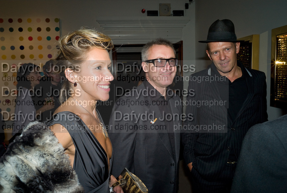 DAMIEN HIRST; MAIA NORMAN, Damien Hirst party to preview his exhibition at Sotheby's. New Bond St. London. 12 September 2008 *** Local Caption *** -DO NOT ARCHIVE-© Copyright Photograph by Dafydd Jones. 248 Clapham Rd. London SW9 0PZ. Tel 0207 820 0771. www.dafjones.com.