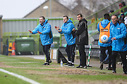Forest Green Rovers assistant manager, Scott Lindsey(left) and Forest Green Rovers manager, Mark Cooper during the Vanarama National League match between Forest Green Rovers and Woking at the New Lawn, Forest Green, United Kingdom on 25 February 2017. Photo by Shane Healey.