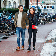 NLD/Amsterdam/20171214 - Presentatie cd Wesly Bronkhorst, Danny Froger en partner Ann-Dominique Wilten
