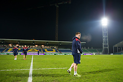 Kyle Traynor checks out the pitch as Bristol Rugby arrive at the stadium - Rogan Thomson/JMP - 16/12/2016 - RUGBY UNION - Stade du Hameau - Pau, France - Pau v Bristol Rugby - EPCR Challenge Cup.