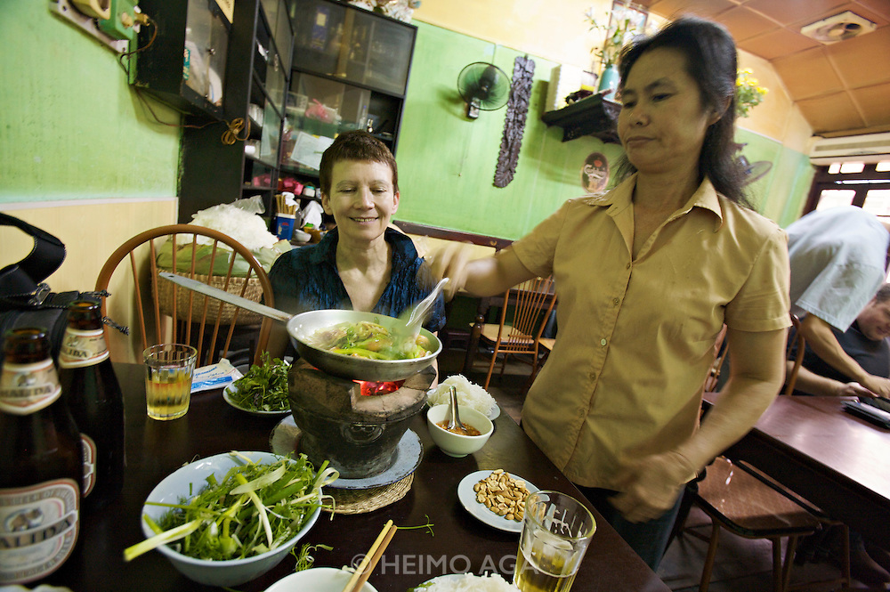 Cha Ca (traditional fish cakes) La Vong, Vietnam's oldest restaurant from 1871.