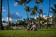 Kayla & Ryan honeymoon portrait session at Kapalua Bay June 18, 2016.