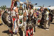 Crow Indian dancers at Crow Fair, Crow Indian Reservation, Montana