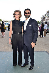 Amanda Staveley and Mehrdad Ghodoussi at the Concours d'éléphant in aid of Elephant Family held at the Royal Hospital Chelsea, London, England. 28 June 2018.
