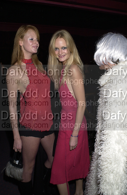 Olivia Inge, Alexia Inge and Natasha Kaye. Toni & Guy/M & P models party. Mayfair Club. 7 December 2000. © Copyright Photograph by Dafydd Jones 66 Stockwell Park Rd. London SW9 0DA Tel 020 7733 0108 www.dafjones.com