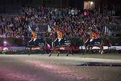 Team Netherlands  winners of the Furusiyya FEI Nations Cup™ Final - Barcelona 2014 with Jeroen Dubbeldam, Jur Vrieling, Maikel Van der Vleuten, Gerco Schroder, Rob Ehrens (chef d'equipe)<br /> © Dirk Caremans<br /> 11/10/14