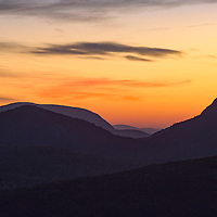 Sunrise as seen from Rhodes Big View Overlook, near Cashiers, North Carolina