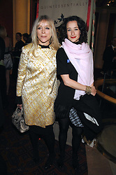 Left to right, JO WOOD and her daughter LEAH WOOD at the Feast of Albion a sumptious locally-sourced banquet in aid of The Soil Association held at The Guildhall, City of London on 12th March 2008.<br />
