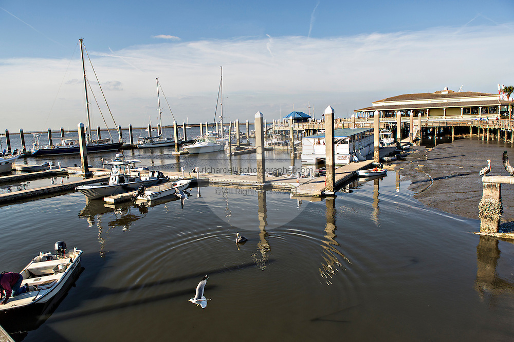 Waterfront and marina in the historic district of Fernandina Beach, Florida
