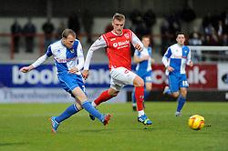 Bristol Rovers' David Clarkson takes a shot at goal. - Photo mandatory by-line: Dougie Allward/JMP - Tel: Mobile: 07966 386802 14/12/2013 - SPORT - Football - Morecombe - Globe Arena - Morecombe v Bristol Rovers - Sky Bet League Two
