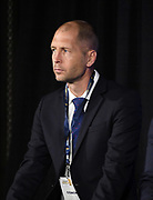 United States coach Gregg Berhalter (USA) during CONCACAF Gold Cup groups unveiling news conference, Wednesday, April 10, 2019, in Los Angeles.