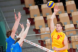Jovica Simovski #9 of FYR Macedonia during volleyball match between National Teams of Slovenia and FRY Macedonia of 2014 CEV Volleyball European League Man - Pool B, on July 5, 2014, in Arena Ljudski vrt Lukna, Maribor, Slovenia, Slovenia. Photo by Urban Urbanc / Sportida