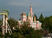 Nara Dreamland: Japan&rsquo;s last abandoned theme park<br /> <br /> Nara Dreamland opened in 1961, inspired by Disneyland in California. For 45 years its central fantasy castle, massive wooden rollercoaster Aska, and corkscrewing Screwcoaster pulled in the big crowds. By then though it was outdated, and dying a slow death as Universal Studios Japan (built 2001) in nearby Osaka sucked all the oxygen out of the business. It closed its doors permanently in 2006. - <br /> On July 1, 1961, Nara Dreamland opened. The entrance to the park was designed to look almost identical to Disneyland, including the Train depot, a Main Street, U.S.A. and the familiar Sleeping Beauty Castle at the hub. It also had a Matterhorn-type mountain (with a Matterhorn Bobsleds-type ride, called Bobsleigh) with the skyway running through it, as well as an Autopia-type pubs and a monorail. The park also had its own mascots, Ran-chan and Dori-chan, two children dressed as bearskin guards.<br /> <br /> It was almost an exact replica of Disneyland, visitors liked going there as it was the closest thing they could get without traveling to US. At its peak, the park had 1.6 million visitors a year.<br /> &copy;Ralph Mirebs/Exclusivepix Media