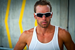 Portrait of Sportsman with Sunglasses