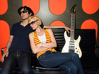 Young couple with guitar portrait