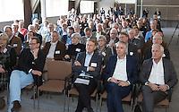 ZEIST - NGF themadag 2016.  gastsprekers Ole Skarin (Zweedse Golf Federatie) met Erik Lenselink (NOC*NSF) . links NGF president Willem Zelsmann. links Arnoud de Jager.  Copyright KOEN SUYK