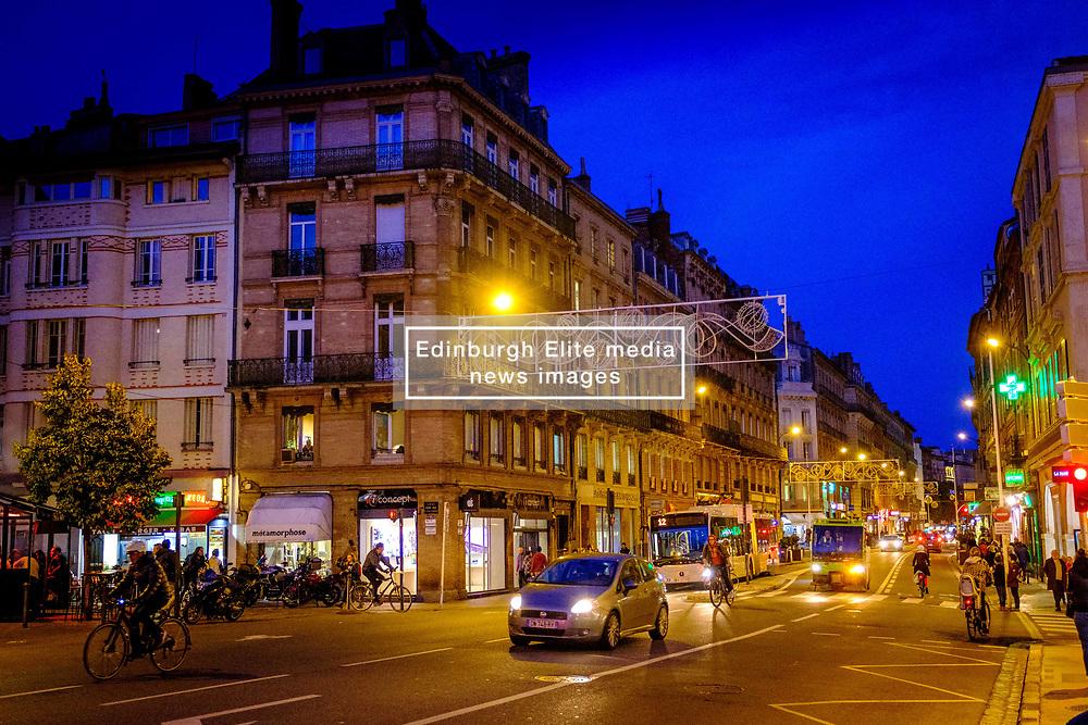 Night time street scene in Toulouse, France<br /> <br /> (c) Andrew Wilson   Edinburgh Elite media