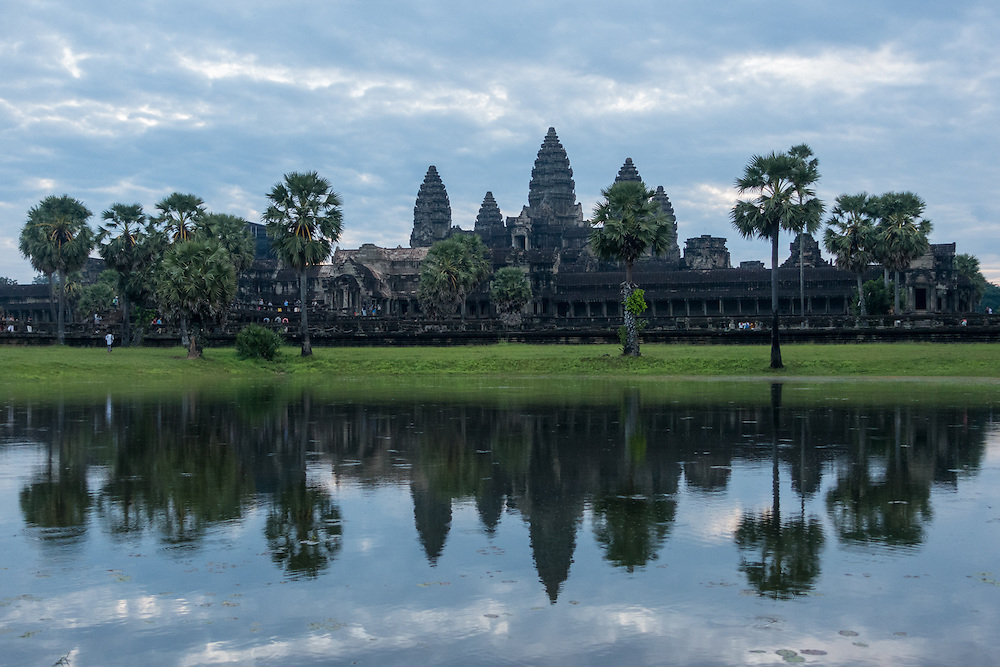 Angkor Wat is the largest religious monument in the world.  The temple complex in located in Cambodia.  It was built by Khmer King Suryavarman II in the early 12th century as a Hindu temple of god Vishnu.