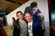 AMSTERDAM - In het Rai theater is de filmpremiere van Iron Man 3. Met op de foto  Tommie Christiaan met zwangere partner Michelle Splietelhof. FOTO LEVIN DEN BOER - PERSFOTO.NU