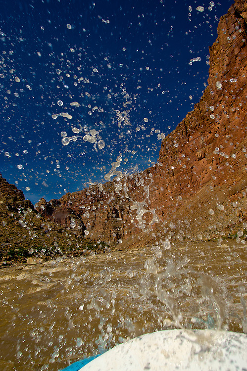Big Drop 1 Rapid (Rapid 21), Cataract Canyon, Colorado River, Glen Canyon National Recreation Area, Utah, USA. This wild,  undammed 112 mile section of the Colorado River was flowing at over 52,000 cubic feet per second.