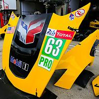 #63, Corvette Racing-GM, Chevrolet Corvette C7.R, LMGTE Pro, driven by: Jan Magnussen, Antonio Garcia, Mike Rockenfeller, 24 Heures Du Mans  2018  Test, 02/06/2018,