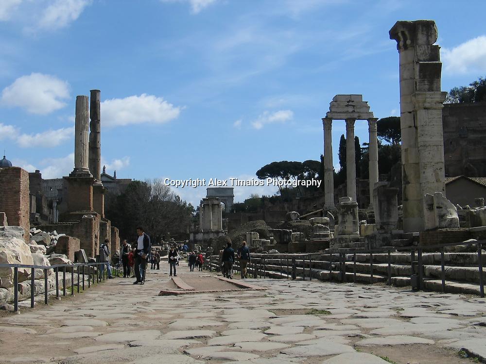 The Roman Forum in Rome, Italy