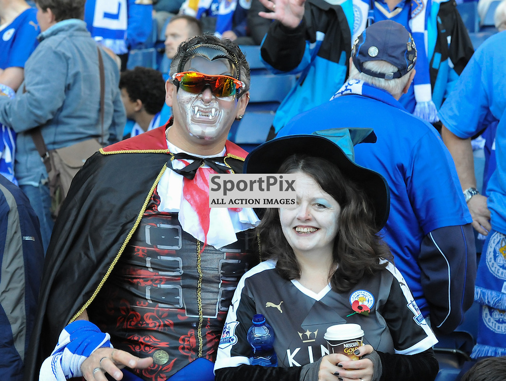 Leicester fans getting in to the Halloween spirit. (c) Simon Kimber | SportPix.org.uk